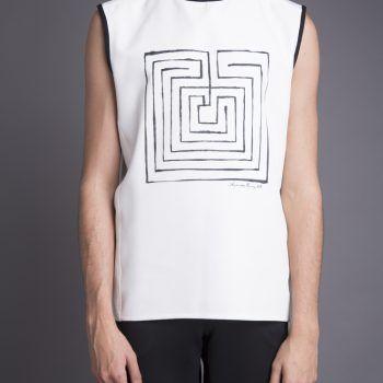 camiseta-pintado-mano-sin-mangas-laberinto